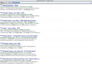 richtig lüften pdf - Suchergebnisse