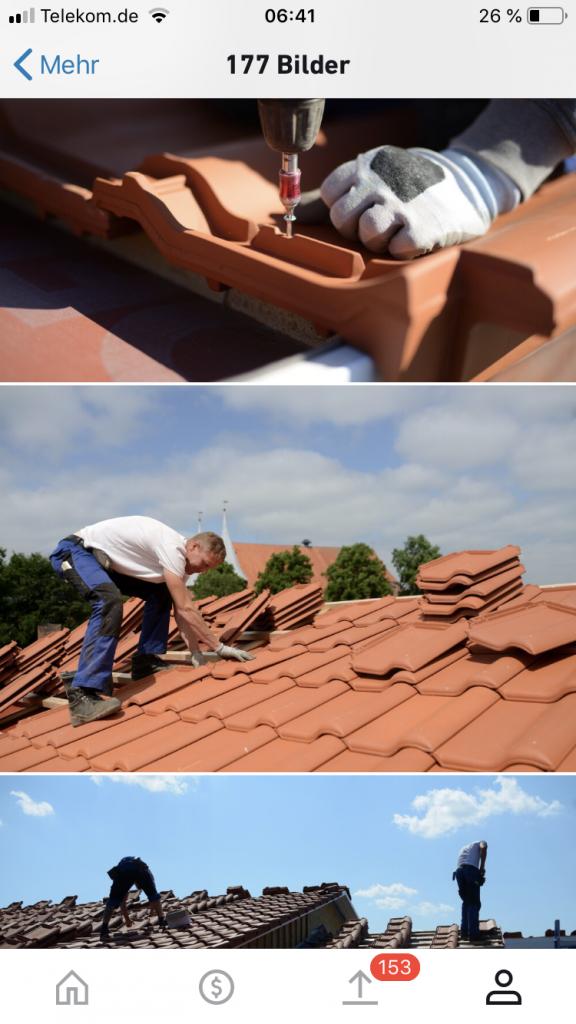 shutterstock Dachziegel rot - Ziegel festschrauben